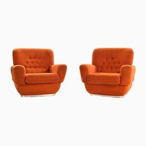 Vintage Brick Color Armchairs