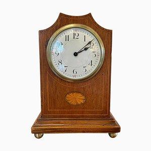 Antike Edwardianische Achtarmige Uhr aus Mahagoni mit Intarsien