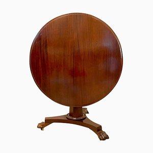 Runder Tisch aus Mahagoni, 19. Jh