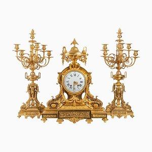 Louis XVI Style Gilt Bronze Fireplace Trim
