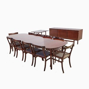 Rungstedlund Mahogany Dining Set by Ole Wanscher for Poul Jeppesen