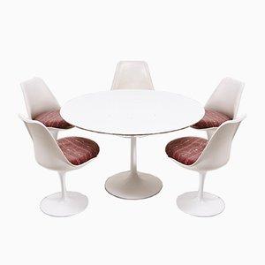 Table de Salle à Manger Tulipe avec 5 Chaises