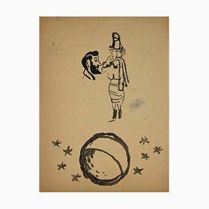 Mino Maccari - The Circus - Originales Aquarell - 1937