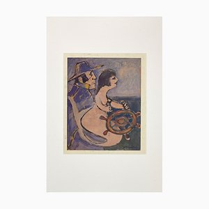 Mino Maccari - The Spirit of Navigation - Original Tinte und Tempera - 1963