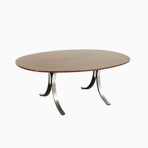 T102A Oval Table by Osvaldo Borsani & Eugenio Gerli for Tecno, 1960s