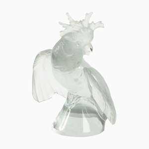 Glass Cockatoo with Wings Deployed from Lalique France