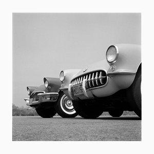 Stampa Chevrolet Corvette, argento, 1957