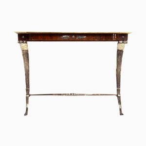 Vintage Italian Rosewood Console Table