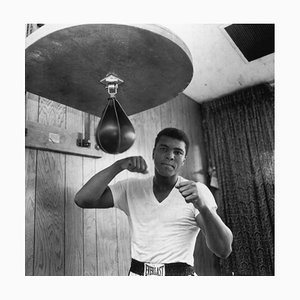 Ali in Training, Silbergelatine Kunstdruck, 1965