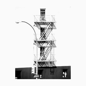Fire Escape, Signed Oversize Silver Gelatin Print, 2013