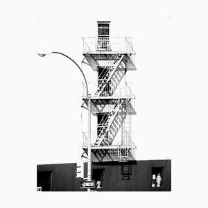 Stampa Fire Escape con firma, Oversize Silver, 2013