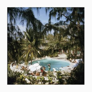 Slim Aarons, Eleuthera Pool Party, Color Photograph, 1960