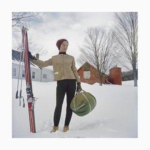 Skifahren in Stowe, Limited Estate gestempelt, 1962, später gedruckt