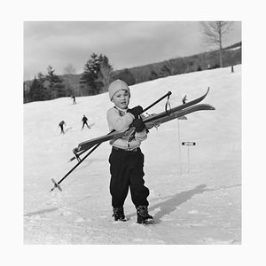 Slim Aarons, Skiing Starters, Limited Edition Estate Stamped Print, 1955, Printed Later