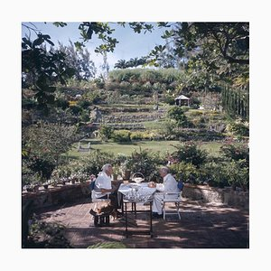 Dining Al Fresco, Slim Aarons Limited Edition Estate Stamped, 1976