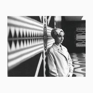 Stampa Audrey Hepburn argentata, 1938