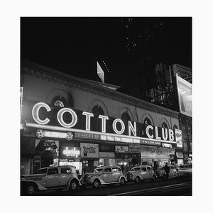 Cotton Club Marquee in NY, Silver Gelatin Fibre Print, 1938, Printed Later