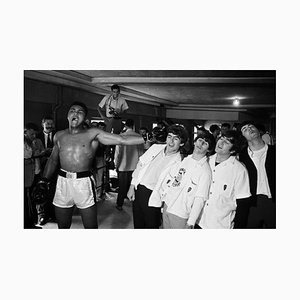 Muhammad Ali Versus Beatles, Silver Gelatin Fibre Print, 1964