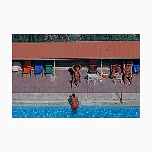 Poolside, Limited Edition Oversize Archival Pigment Print, 1979