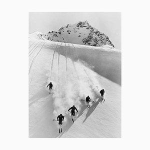 Schweizer Alpen, Oversize Pigment Pigment Print, 1928, Spätere Druckversion