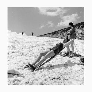 Sunbathing Skier, Silver Gelatin Fibre Print, 1957, Printed Later