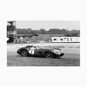 Stampa Stirling Moss, argento, 1959, Printed Later