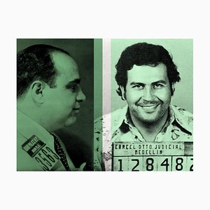 Colour of Money, Al Capone et Pablo Escobar Batik Signed Limited Edition, 2021