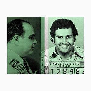 El color del dinero, Al Capone y Pablo Escobar Batik Signed Limited Edition, 2021