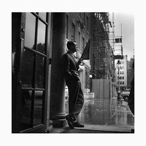 Cary Grant in Rain, Silver Gelatin Fibre Print, 1957