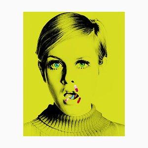 The Drugs Do not Work I - Impresión vintage firmada de gran tamaño de Twiggy - 2020