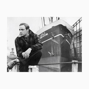 Stampa Brando on the Waterfront, argento, 1954, Printed Later