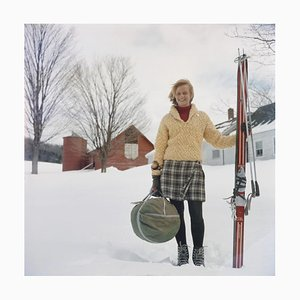 Skiing Waitress (1960) - Limited Estate Stamped, 2020