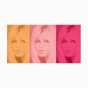 PInk Bardot Triptych by Batik Signed Limited Edition Oversize Print, 2020