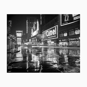 Times Square At Night, 1953, Silver Grainatin Fiber Print, Oversized
