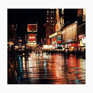 Times Square by Night (1953) - Oversized, Printed Later