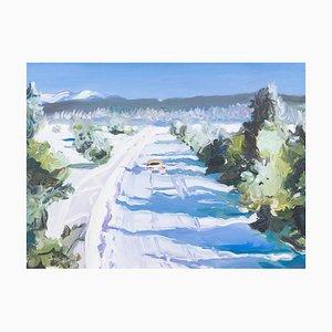 Snow Drive, Original Art Oil on Canvas, 2013