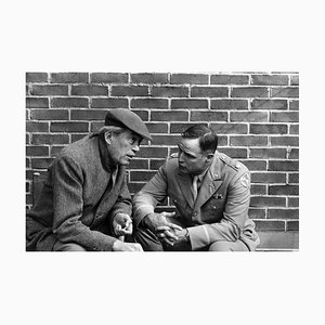 Stampa Huston & Brando, argento, 1967