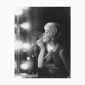 Doris Day Applies Lipstick, Silver Gelatin Print, 1959