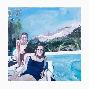 Poolside Smiles, Oil on Canvas, 2010