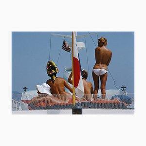 Yacht Urlaub, Slim Aarons, 20. Jahrhundert, Farbfotografie, Akte, 1967