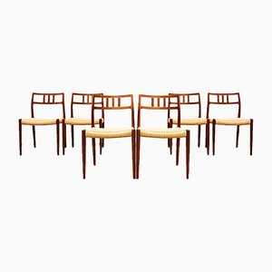 Danish Teak 79 Dining Chairs by Niels Otto Møller for J.L. Møllers, 1950s, Set of 6