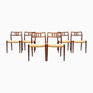 Sedie da pranzo 79 in teak di Niels Otto Møller per JL Møllers, Danimarca, anni '50, set di 6