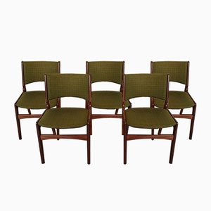 Teak Model 89 Dining Chairs by Erik Buch for Anderstrup Møbelfabrik, 1960s, Set of 5