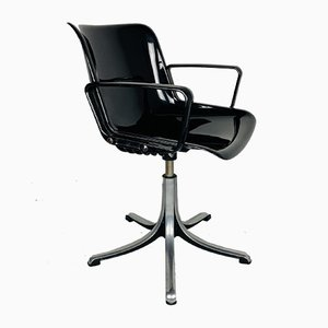 Mid-Century Italian Plastic Modus Office Chair by Osvaldo Borsani for Tecno, 1970s