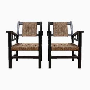 Vintage French Art Deco Armchairs by Francis Jourdain, Set of 2