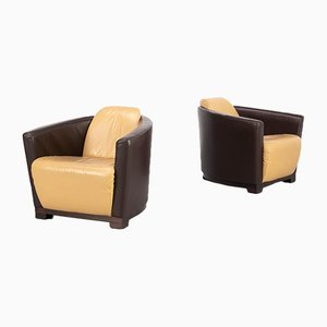 Postmodern Art Deco Style Lounge Chairs from Calia Italia, 1980s, Set of 2
