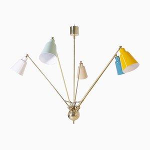 Messing & Aluminium Deckenlampe von Fedele Papagni, 2010