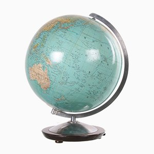 Large Glass Globe with Lamp from Berlin or Stuttgart, 1940s or 1950s