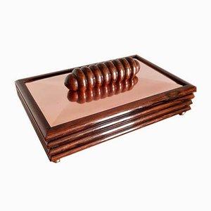 Art Deco Rosewood & Copper Box, 1930s