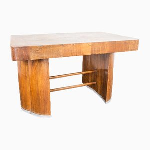 Vintage Art Deco Oak Dining Table, 1940s